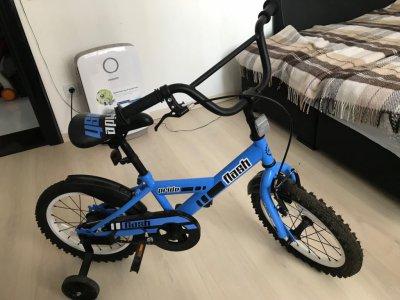 Продам детский велосипед черно-синий матовый Pride Flash 16''