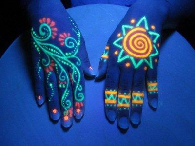 Ультрафиолетовые краска для дизайна интерьера