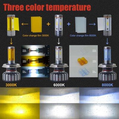 LED лампи у фари. Будь якого типу V18 100W 12000 LM триколірні