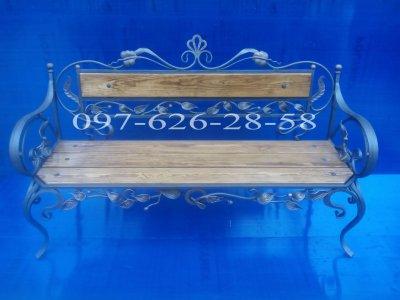 Кованная скамейка ручной работы