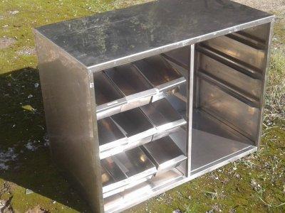 Прилавок для столовых приборов б/у, подставка для подносов