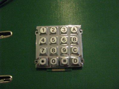 Клавиатура металлическая В12 4х4 (16 клавиш) IP-65