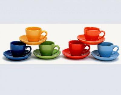 Набор кофейный (6 чашок и 6 мисок)