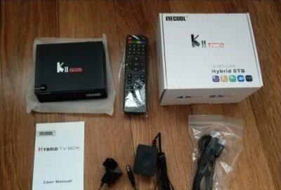 Mecool KII PRO андройд тв-бокс с тюнерами DVB-T2,S