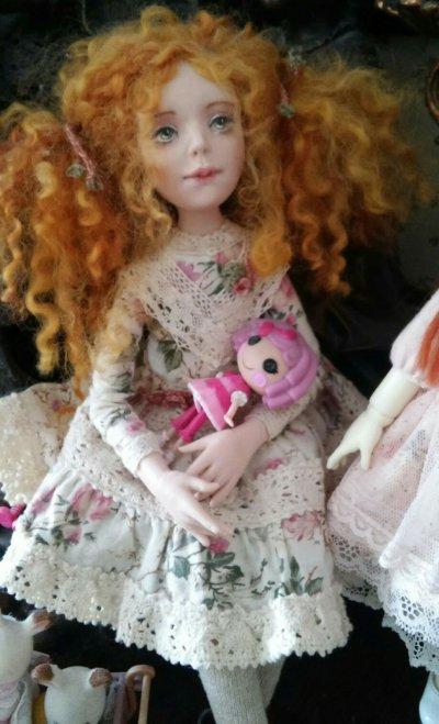 Авторская куколка Рыжулька Нелли