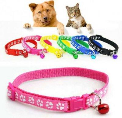 Ошейник для собаки и кошки с колокольчиком