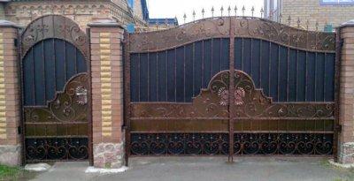 Изготовим металлические ворота, калитки, заборы
