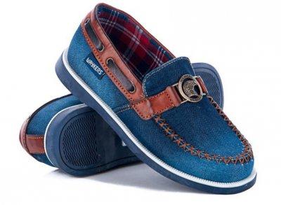 Джинсовые мокасины (туфли) waykers