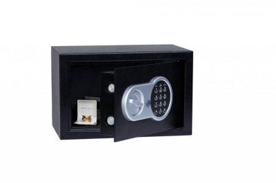 Мебельный взломостойкий сейф БС-20Е.9005 (габариты:200x310x200мм) для дома, офиса, гостинницы