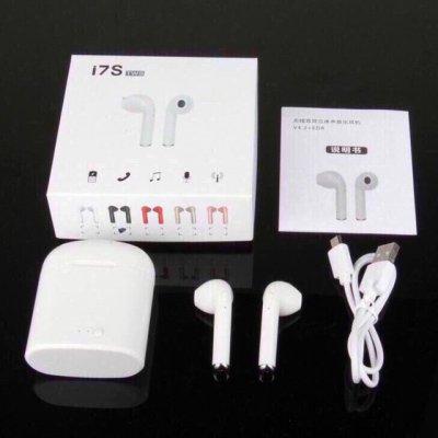 Беспроводные наушники I7s TWS Bluetooth с кейсом аналог реплика Airpod Apple