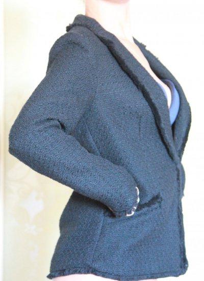 Теплый черный пиджак h&m (размер 36)