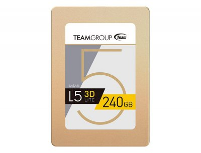 "Накопитель SSD 240GB Team L5 Lite 3D Gold 2.5"" SATAIII 3D V-NAND TLC"
