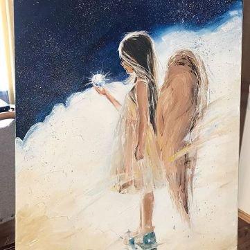 Картина маслом 60*80 Ангел
