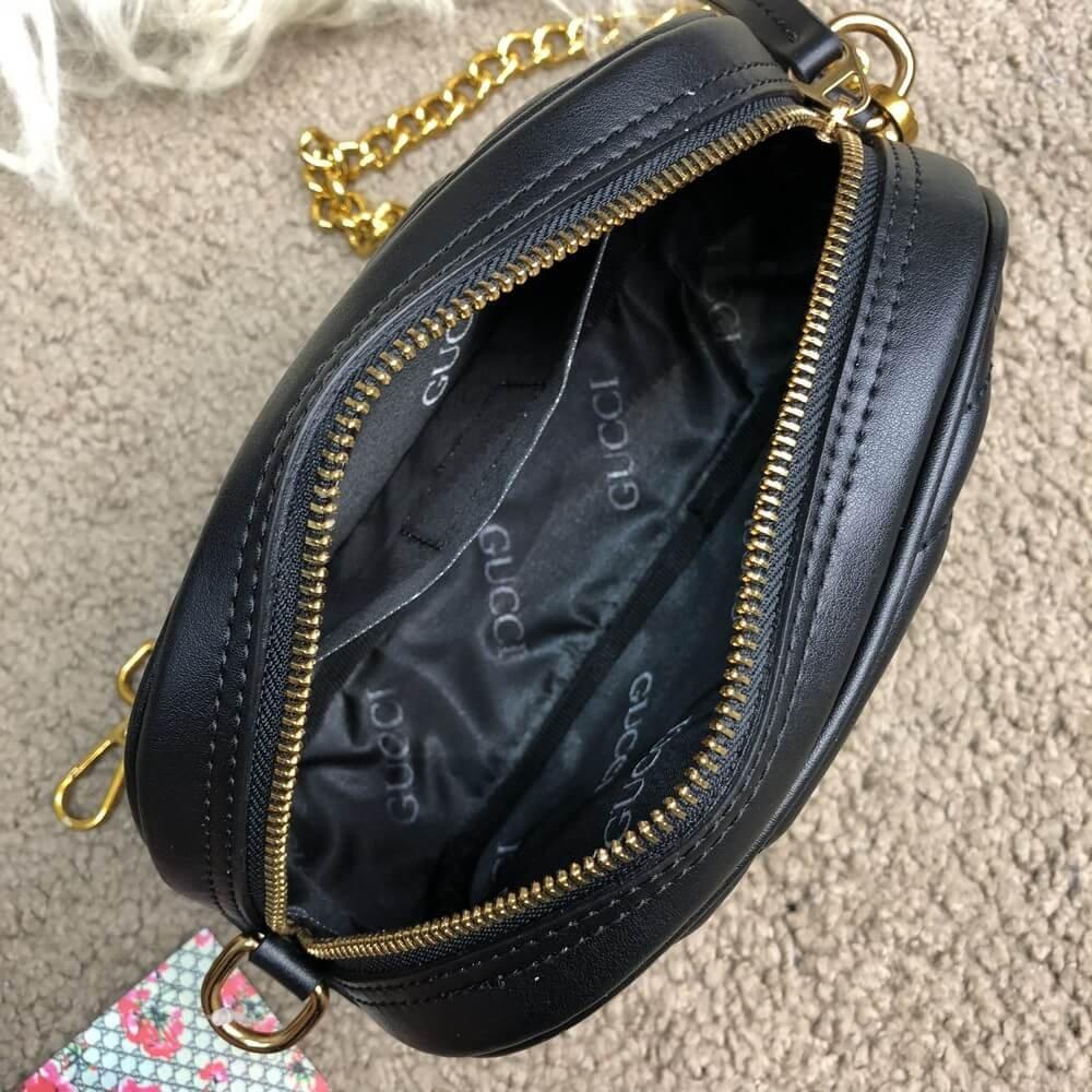 935daac68822 Gucci GG Marmont Matelassé Belt Bag Black. Женская сумка / Женские ...