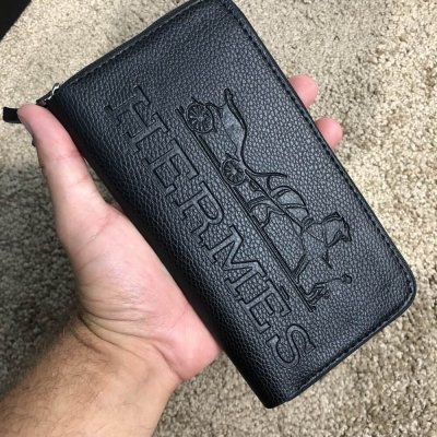 Hermes Manhattan Wallet Black. Портмоне