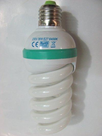 Лампа энергосберегающая Spiral E27 36W 6400K