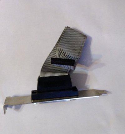 Планка порта LPT со шлейфом и разъемом