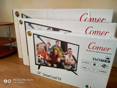 Smart TV 32 дюйма Android,1Gb:4Gb WiFi super slim DVB-T2, FullHD