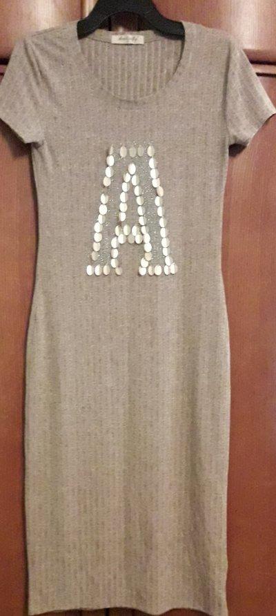 Платье женское трикотажное размер 44.Длина платья 110 см.