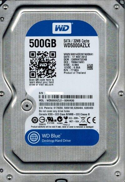 "Винчестер SATA 3,5"" 500GB WD Blue 7200rpm 32MB"