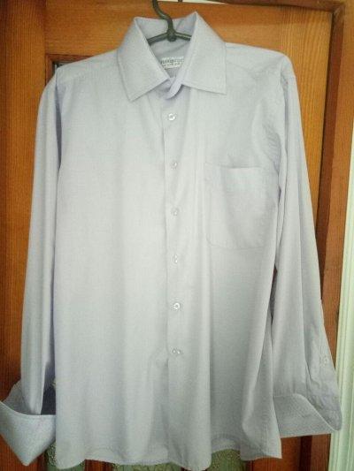 Мужская рубашка. Длинный рукав. Праздничная с галстуком.