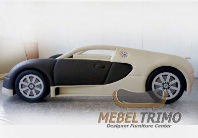 Детская кровать машина 3D