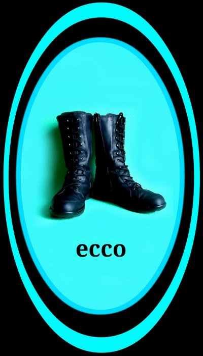 Кожаные утеплённые ботинки-сапоги ECCO