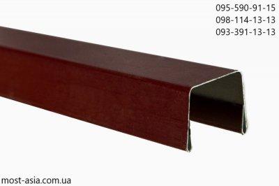 Планка на забор из профнастила размер, Размеры П-образной планки