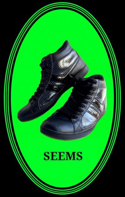 Высокие кожаные кроссовки SЕЕMS(ботинки)