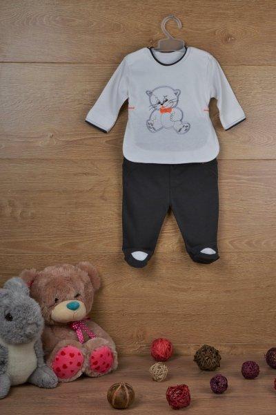 Необычный комплект для мальчика: боди с рукавом и ползунки - р.62, 68