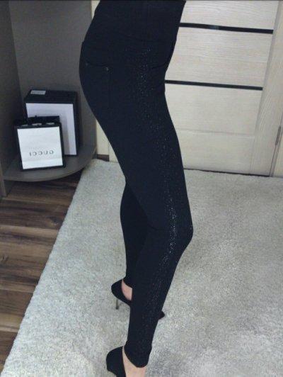 Женские брюки со стразами