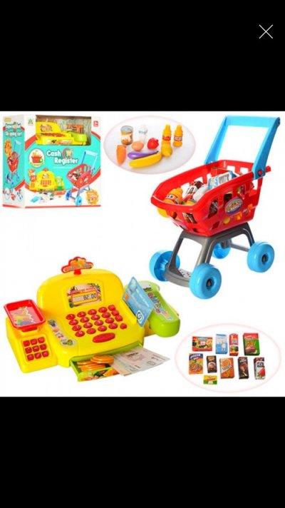 Большой Игровой набор Мой Магазин СупермаркетLS820A22-1, касса, микрофон,сканер, продукты, тележка