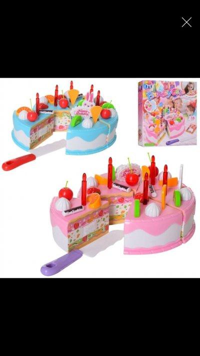 """Продукты на липучке, набор """"Торт"""", торт на липучке"""