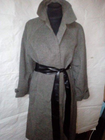 Пальто новое реглан как бушлат серый графит oversize Schneiders