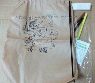 Рюкзак - раскраска с фломастерами Украинская Оселя
