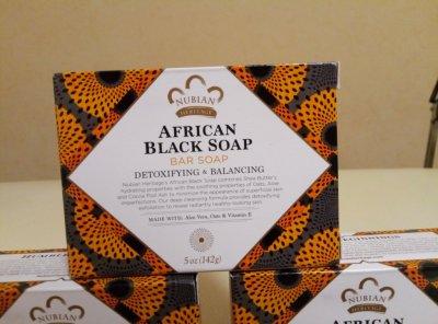 Африканское черное мыло от Nubian Heritage кусковое, 142 грамма