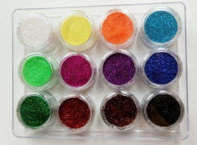 Блёстки набор из 12 цветов