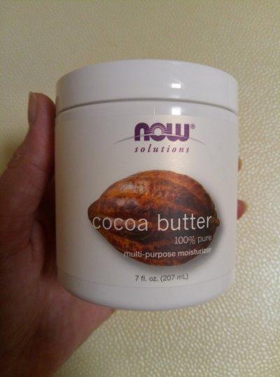 Натуральное масло какао от NOW, США