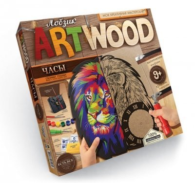 Набор для творчества Часы своими руками Выпиливание лобзиком ARTWOOD Danko Toys