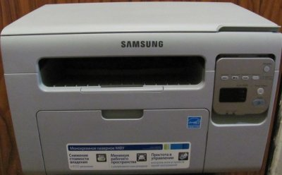 Современный МФУ лазерный Samsung 3400 домашний
