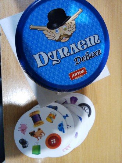 Настольная игра Дуплет Deluxe, аналог Dobble
