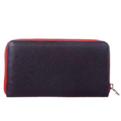 Кожаный кошелек-клатч на молнии Rich Valenta сине-красный