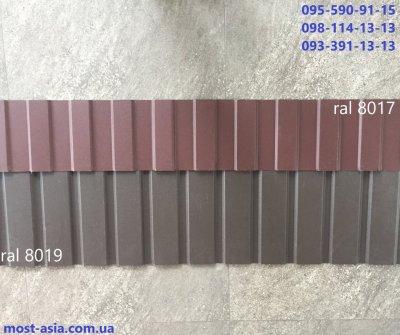 Коричневый профнастил 8019, Металлопрофиль РАЛ 8019
