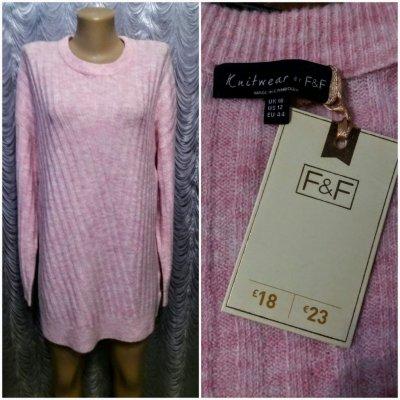 Удлинённый свитер. F&F. 50 размер.