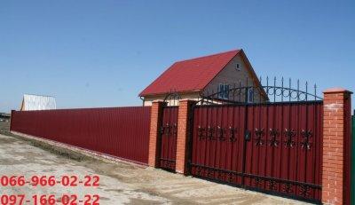 Профнастил винно-красный цвет, Металлопрофиль ral 3005 вишня, Профлист Вишневый 3005