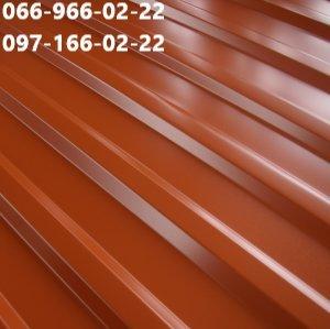 Терракотовый металлопрофиль ral 8004, Профнастил терракотовый