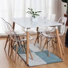 Обеденный стол квадратный 80х80 см Нури, цвет белый, черный