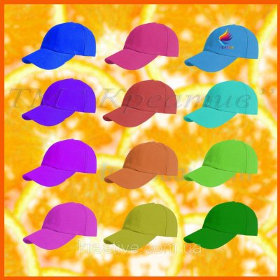 Бейсболки кепки однотонные с возможностью нанесения логотипа (отшив от 100 шт.)