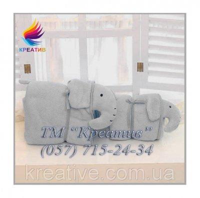 Трансформер 3 в1 (плед, подушка, игрушка) СЛОН под заказ (от 50 шт.)