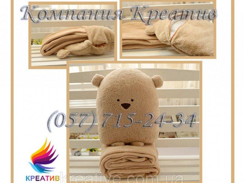 Трансформер 3 в1 (плед, подушка, игрушка) под заказ (от 50 шт.)